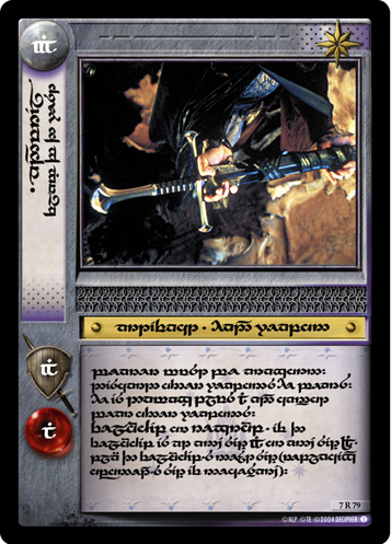Anduril, Flame of the West (T) (7R79T) Card Image