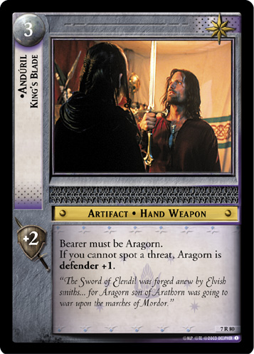 Anduril, King's Blade (7R80) Card Image