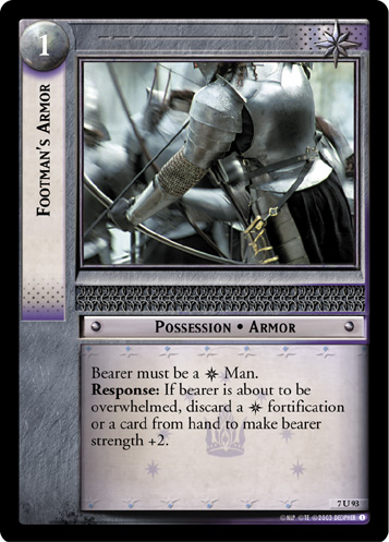 Footman's Armor (7U93) Card Image