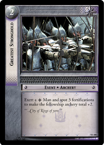 Greatest Stronghold (7R100) Card Image
