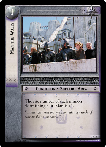 Man the Walls (7C111) Card Image