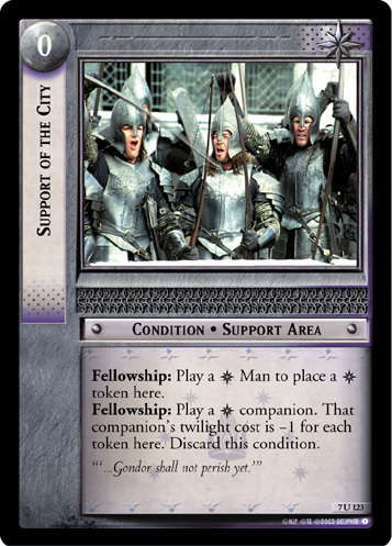 Support of the City (7U123) Card Image