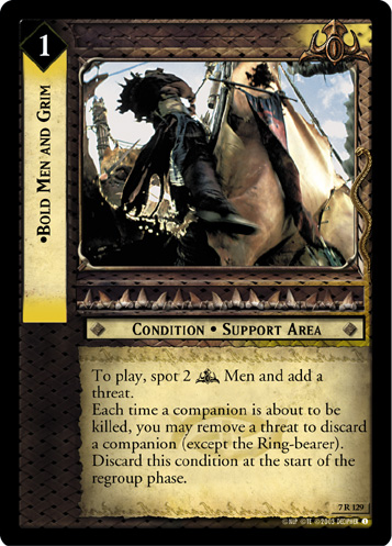 Bold Men and Grim (7R129) Card Image