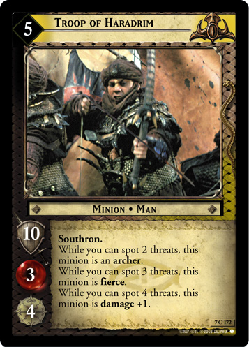 Troop of Haradrim (7C172) Card Image