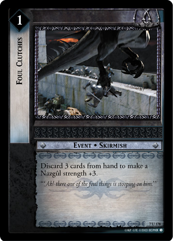 Foul Clutches (7U178) Card Image