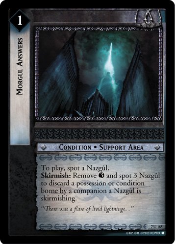 Morgul Answers (7U185) Card Image
