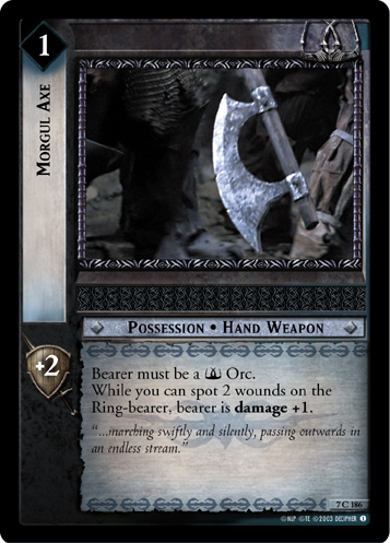 Morgul Axe (7C186) Card Image