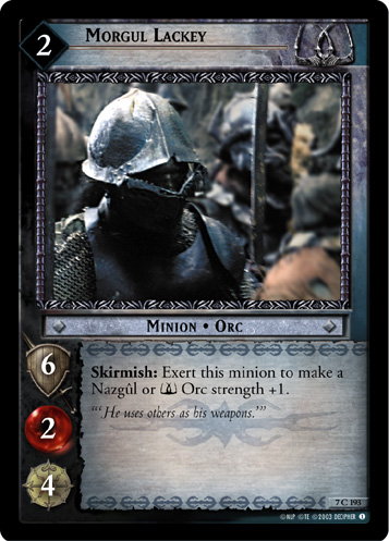 Morgul Lackey (7C193) Card Image