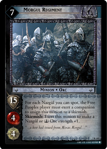 Morgul Regiment (7R197) Card Image