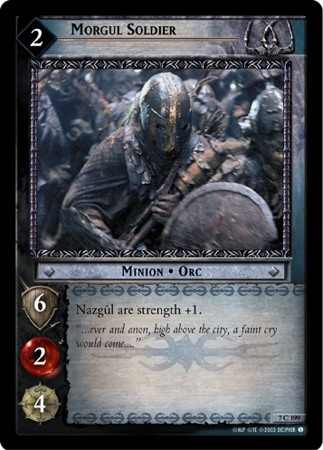 Morgul Soldier (7C199) Card Image