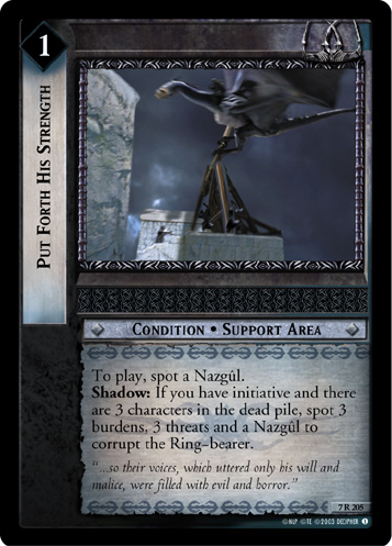 Put Forth His Strength (7R205) Card Image