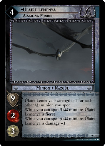 Ulaire Lemenya, Assailing Minion (7R213) Card Image