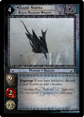 Ulaire Nertea, Black-Mantled Wraith (7U217) Card Image