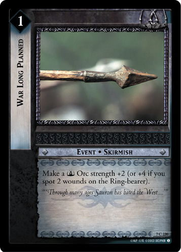 War Long Planned (7C220) Card Image