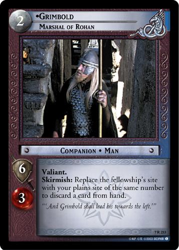 Grimbold, Marshal of Rohan (7R233) Card Image