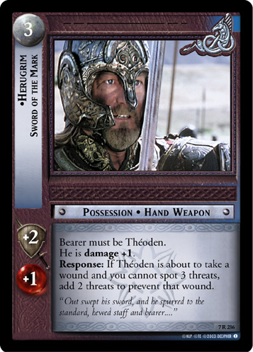 Herugrim, Sword of the Mark (7R236) Card Image