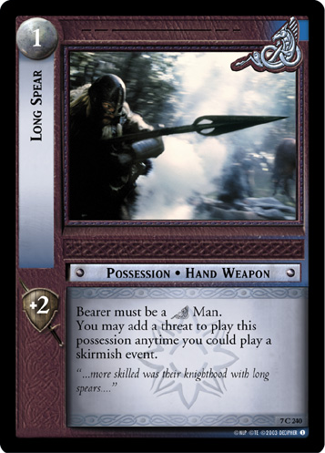 Long Spear (7C240) Card Image