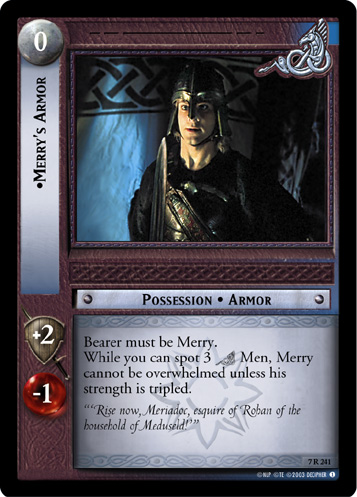 Merry's Armor (7R241) Card Image