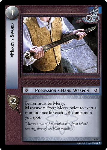 Merry's Sword (7R242) Card Image