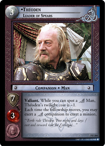 Theoden, Leader of Spears (7U254) Card Image