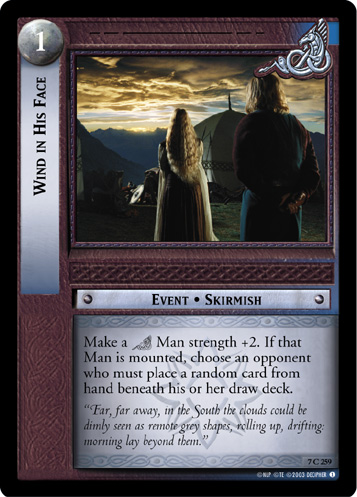 Wind in His Face (7C259) Card Image