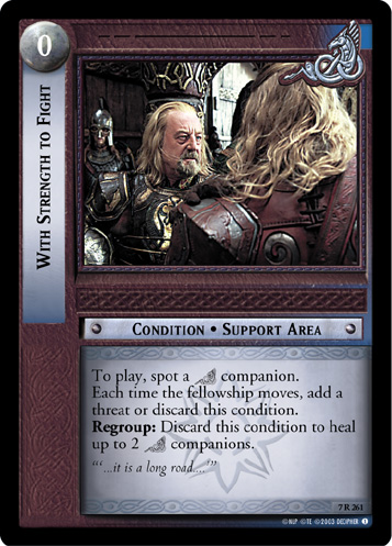 With Strength to Fight (7R261) Card Image