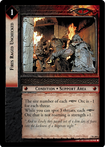 Fires Raged Unchecked (7R269) Card Image