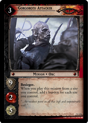 Gorgoroth Attacker (7U270) Card Image