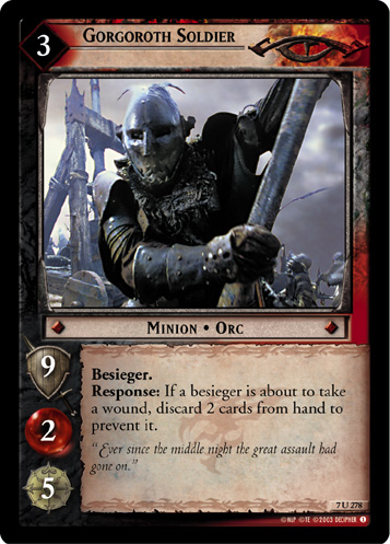 Gorgoroth Soldier (7U278) Card Image