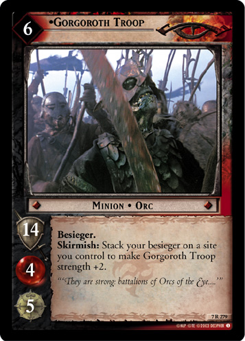 Gorgoroth Troop (7R279) Card Image