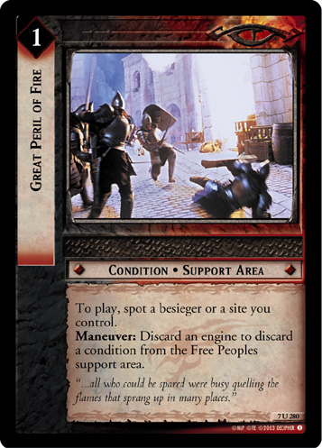 Great Peril of Fire (7U280) Card Image