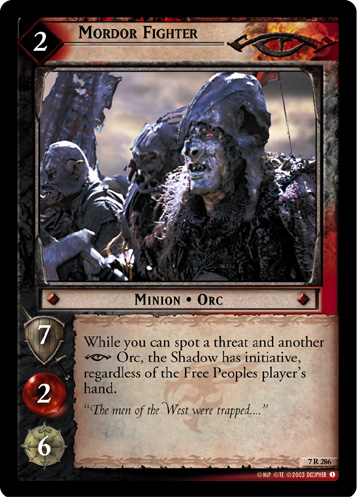 Mordor Fighter (7R286) Card Image