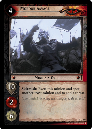 Mordor Savage (7U289) Card Image