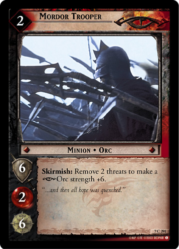 Mordor Trooper (7C291) Card Image