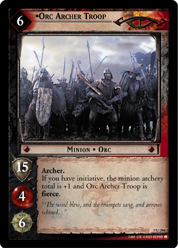 Orc Archer Troop (7U294) Card Image