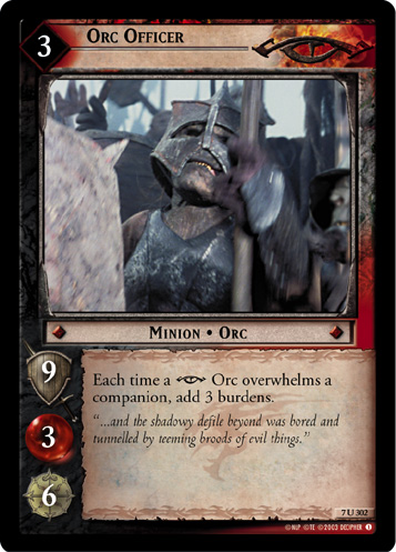 Orc Officer (7U302) Card Image