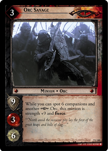 Orc Savage (7U305) Card Image