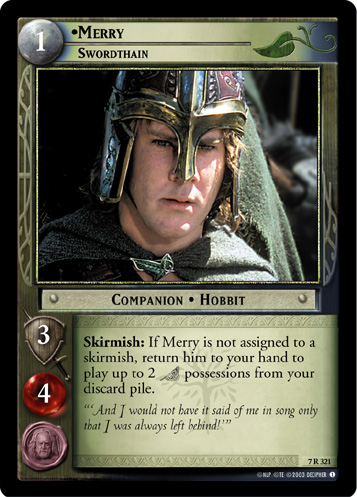 Merry, Swordthain (7R321) Card Image