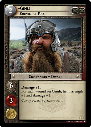Gimli, Counter of Foes (8C5) Card Image