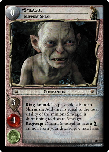Smeagol, Slippery Sneak (8R27) Card Image