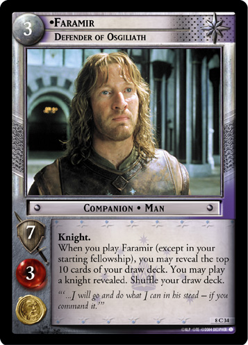 Faramir, Defender of Osgiliath (8C34) Card Image