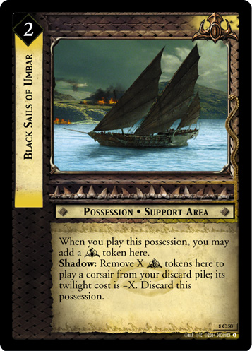 Black Sails of Umbar (8C50) Card Image