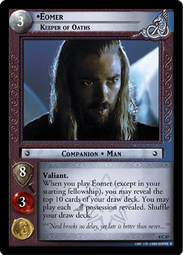Eomer, Keeper of Oaths (8C87) Card Image