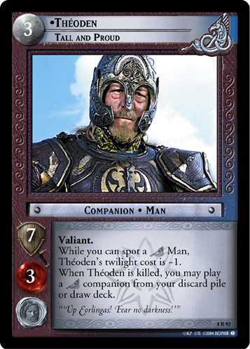 Theoden, Tall and Proud (8R92) Card Image