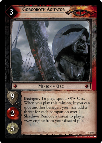 Gorgoroth Agitator (8U94) Card Image