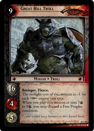 Great Hill Troll (8C102) Card Image