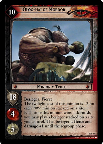 Olog-hai of Mordor (8R105) Card Image
