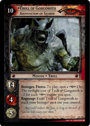 Troll of Gorgoroth, Abomination of Sauron (8R108) Card Image