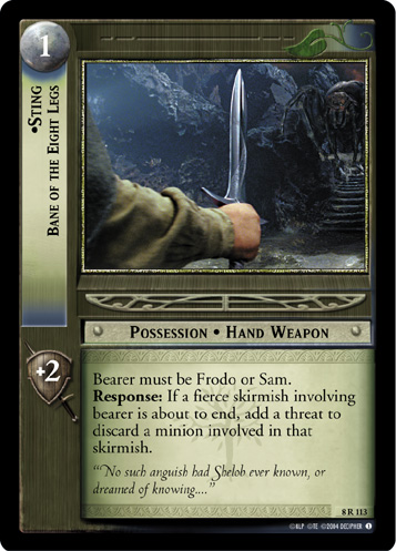 Sting, Bane of the Eight Legs (8R113) Card Image
