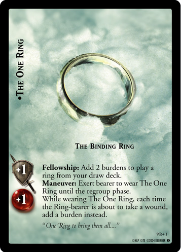 The One Ring, The Binding Ring (9R+1) Card Image